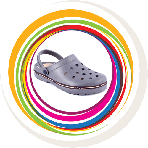 Garden Clogs - Spice band - Grey 1