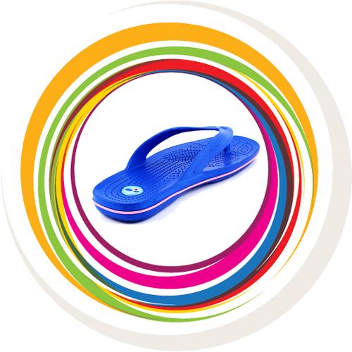 Glider-v-shape - Blue (Lt Pink Border) 3