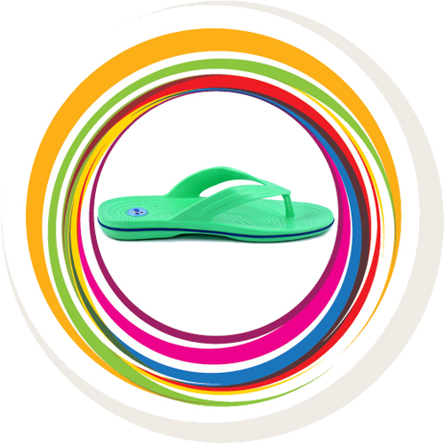 Glider-v-shape - Green (Blue Border) 2