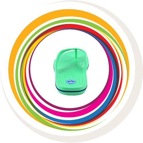 Glider-v-shape - Green (Blue Border) 4