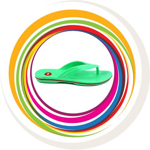 Glider-v-shape - Green (Red Border) 3