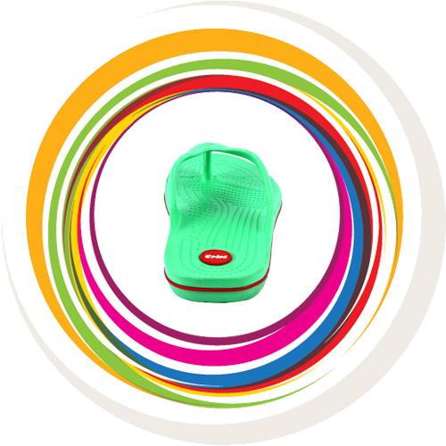 Glider-v-shape - Green (Red Border) 5