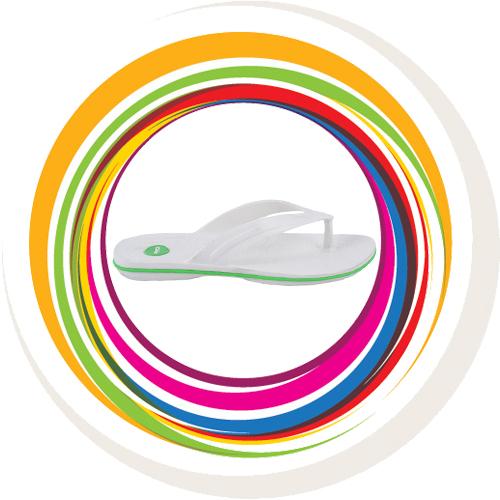 Glider-v-shape - White (Green Border) 3