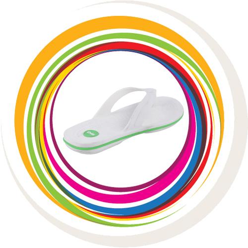 Glider-v-shape - White (Green Border) 4