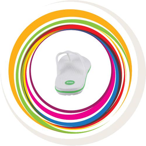 Glider-v-shape - White (Green Border) 5