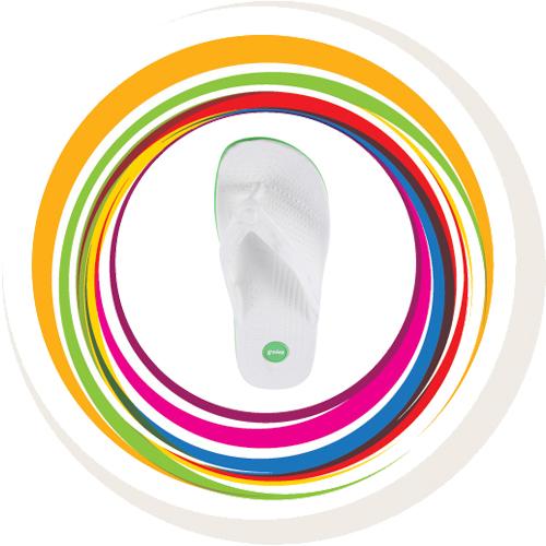 Glider-v-shape - White (Green Border) 6