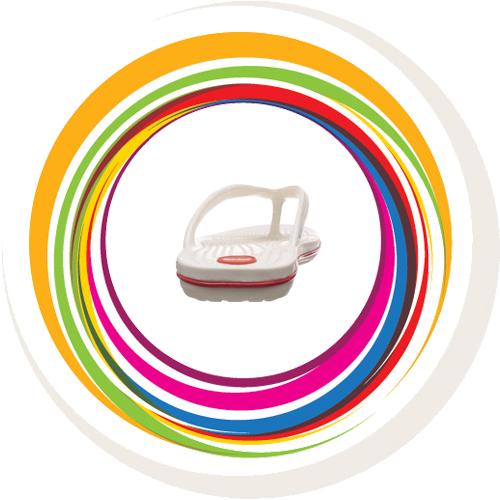 Glider-v-shape - White (Red Border) 10