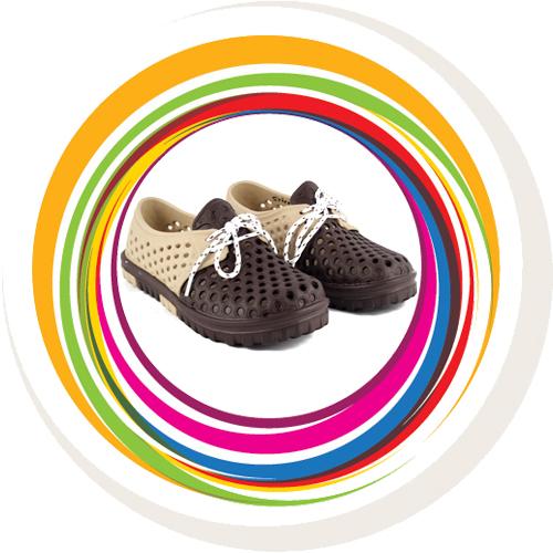 Laced Shoe - Beige & Brown 7