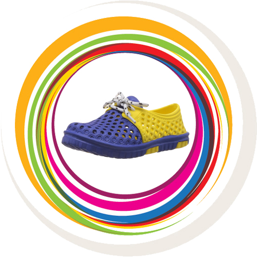 Laced Shoe - Blue & Yellow 1