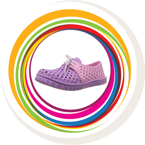 Laced Shoe - Pink & Purple 8