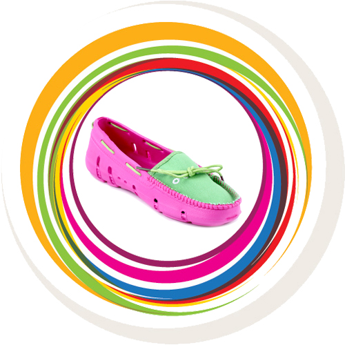 Ladies Loafer - Green Pink 1