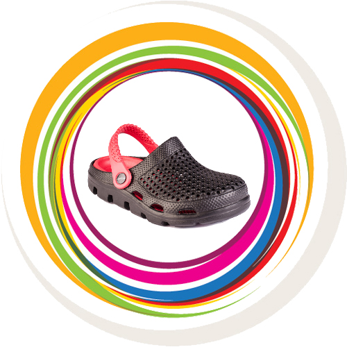 Teen Clogs - Black & Red 7