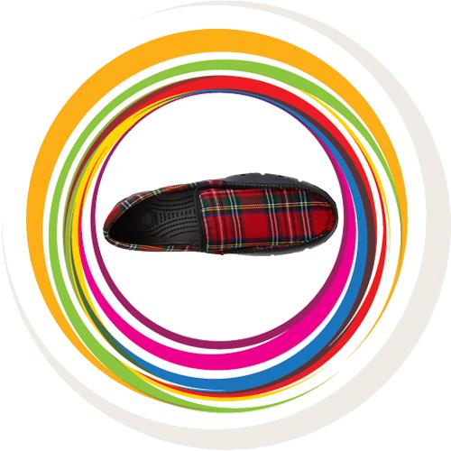 Men Loafer -Scotish Check -Red 11
