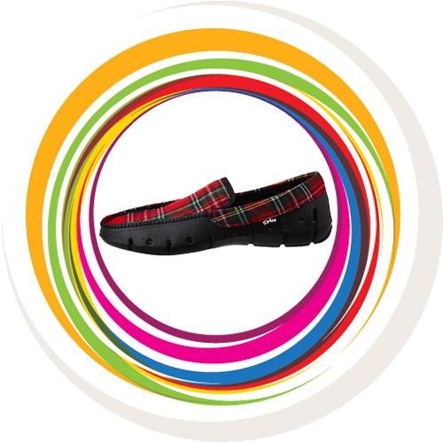 Men Loafer -Scotish Check -Red 13